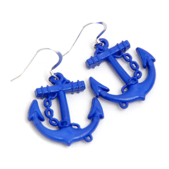 Earrings Sailor (blue big)