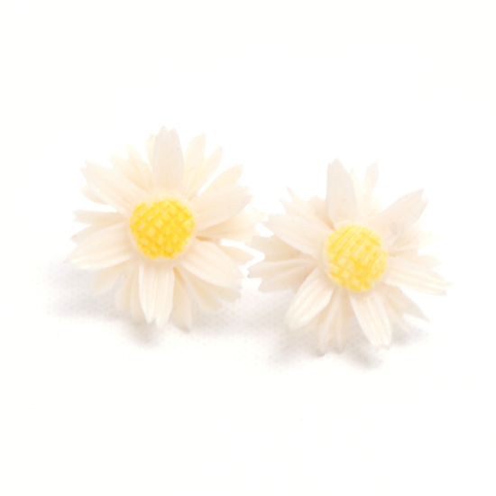 Earrings Daisy Big (white vintage)