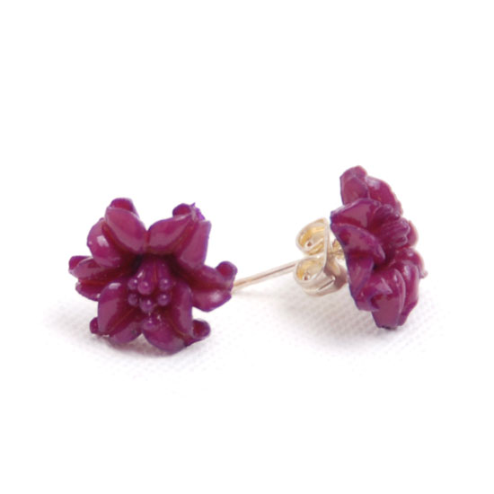 Earrings Orchid Small