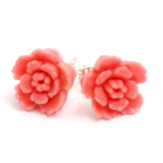 Earrings Flower (pink vintage)