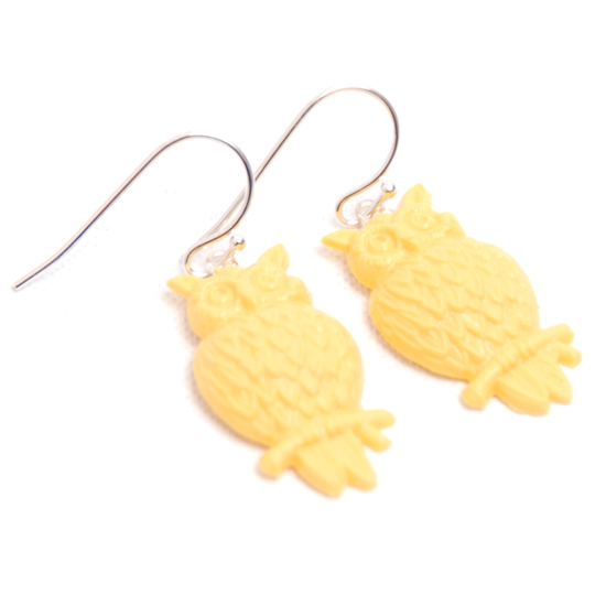 Earrings Owl (yellow)