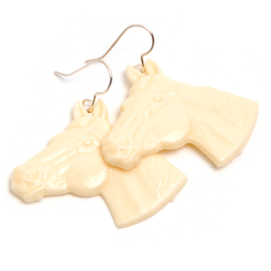 Earrings Horse (beige)