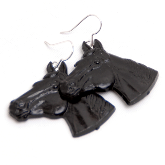 Earrings Horse (black)
