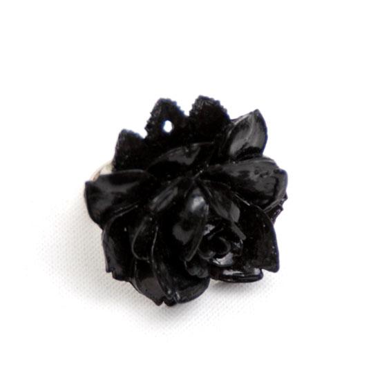Sormus Ruusu (musta)