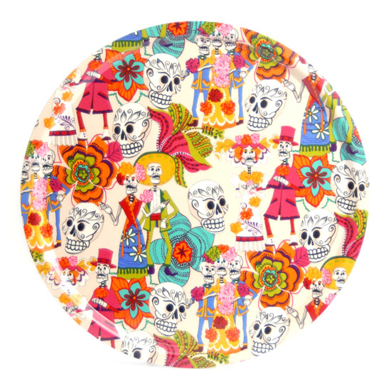 Rund Bricka 45 cm Day of the Dead (beige)