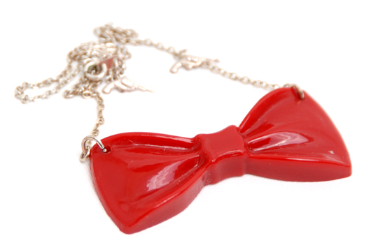 Necklace Bow (red)
