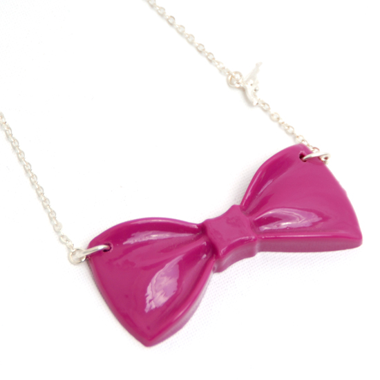 Necklace Bow (pink)