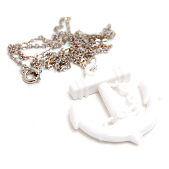 Necklace Anchor Sailor (white)