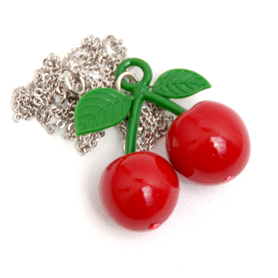 Necklace Cherry Rockabilly