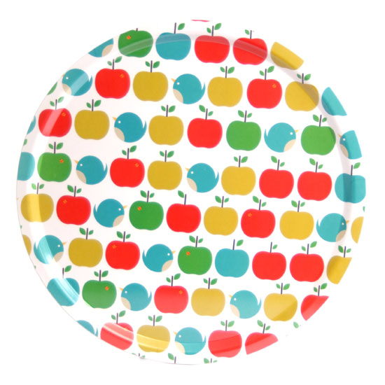 Round tray 45 cm Apples and birds