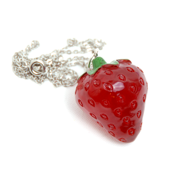 Necklace Strawberry Big