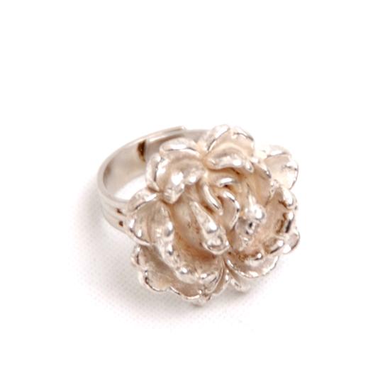 Sormus Ruusu (hopea)