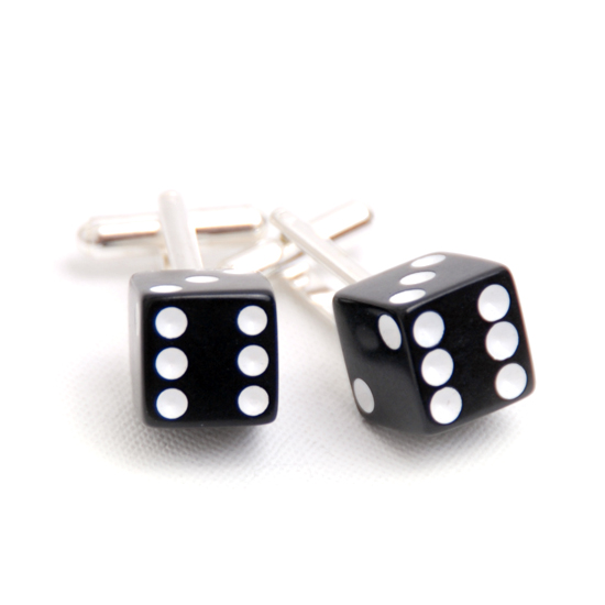 Cufflinks Dice (black)