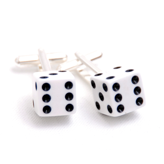 Cufflinks Dice (white)