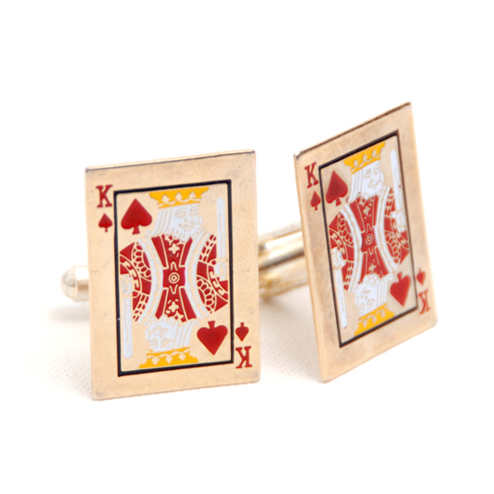 Cufflinks Card King