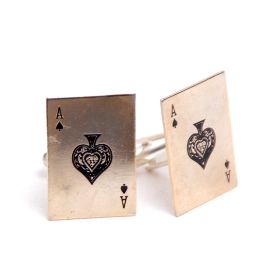 Cufflinks Card Ace