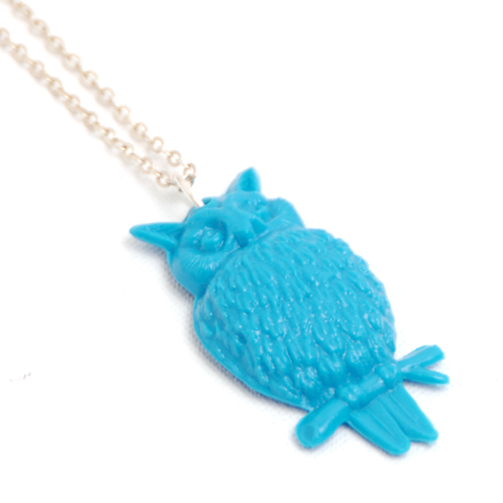 Necklace Owl (turq)