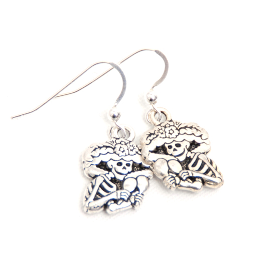 Earrings La Catrina (silver)
