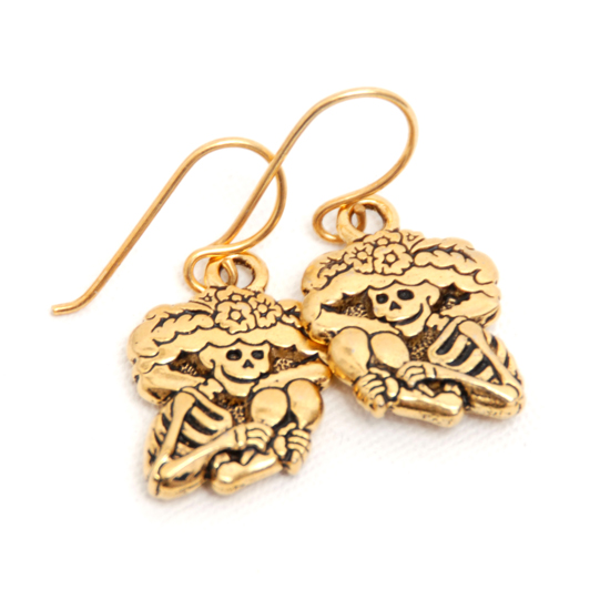 Earrings La Catrina (gold)