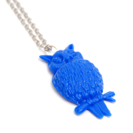 Necklace Owl (blue)