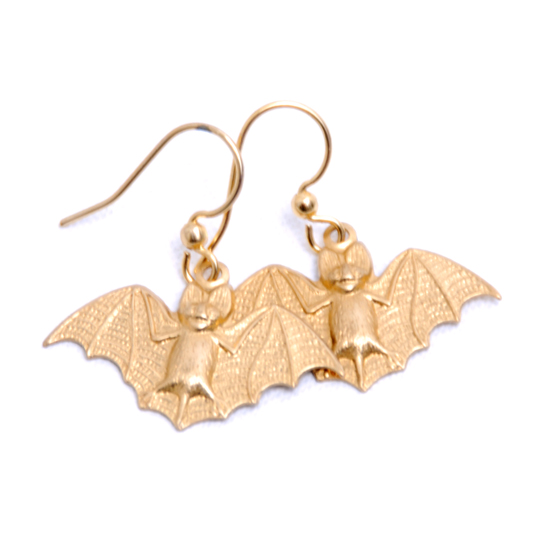 Earrings Bat (gold)