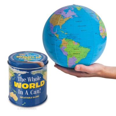 Tincan with inflatable globe