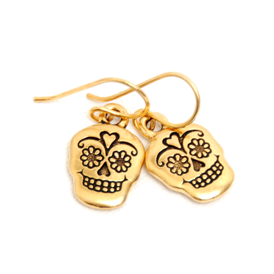 Earrings Sugar Skull (gold)