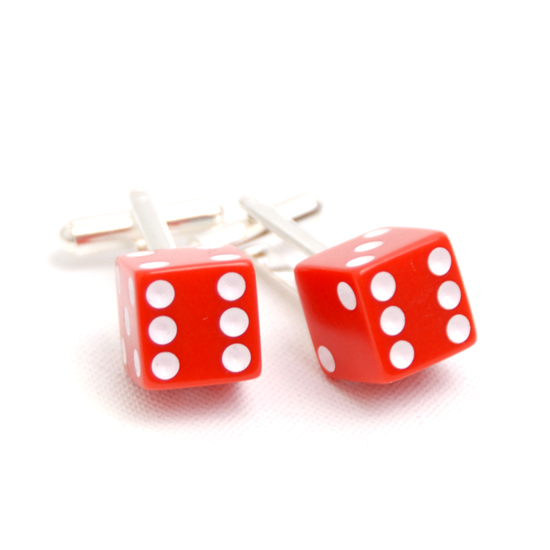 Cufflinks Dice (red)