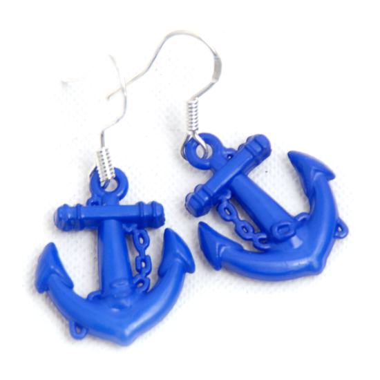 Earrings Sailor (blue small)