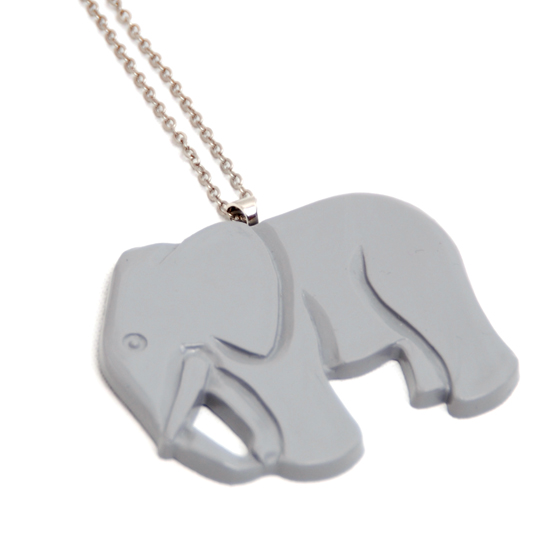 Necklace Elephant (grey)