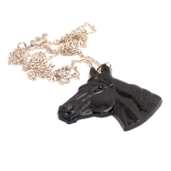 Halsband Hästhuvud (svart)