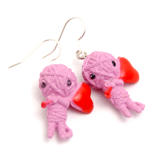 Earrings Voodoo (pink)