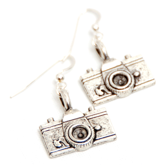 Earrings Camera (silver)