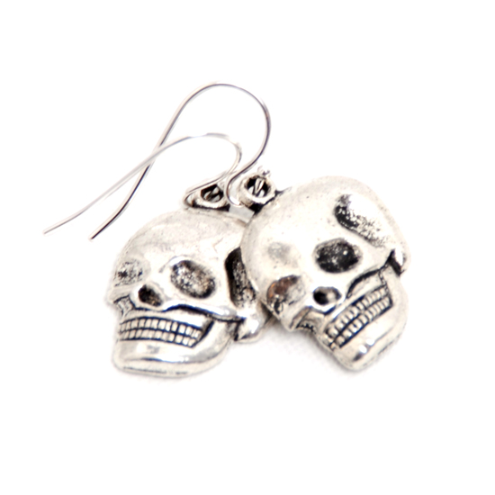 Earrings Skull (silver)