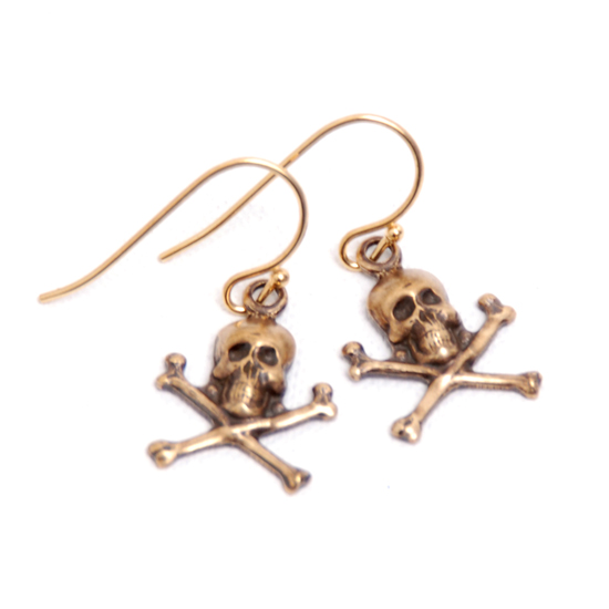 Earrings Skull Pirate