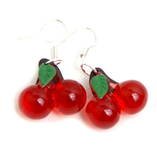 Örhängen Cherry (transparent)