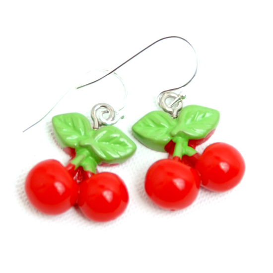 Earrings Cherry Bright