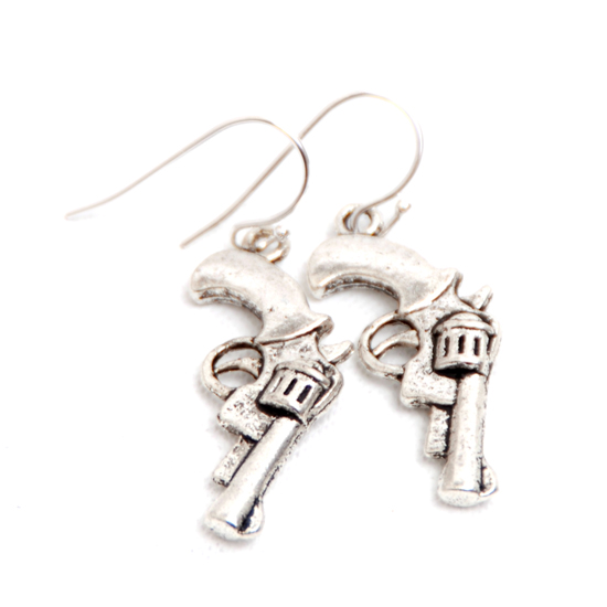 Earrings Pistols Medium (silver)