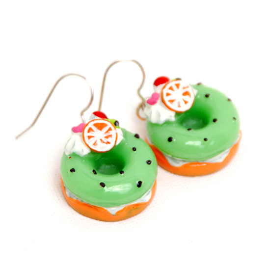 Earrings Donuts Big (green)
