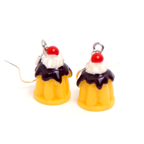 Earrings Cupcake Small Jelly Cherry