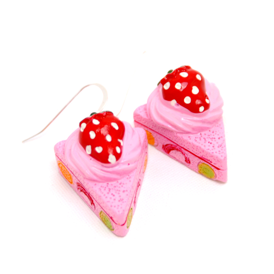 Earrings Strawberry Pie