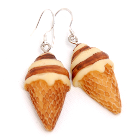 Earrings Icecream Big Chocolat