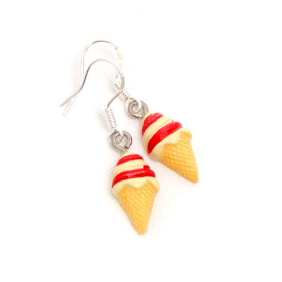 Earrings Icecream Small Strawberry