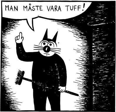Magnet Klas Katt 'Tuff'