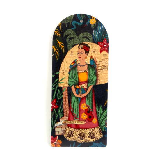 Cutting Board Frida Kahlo (black w bird)