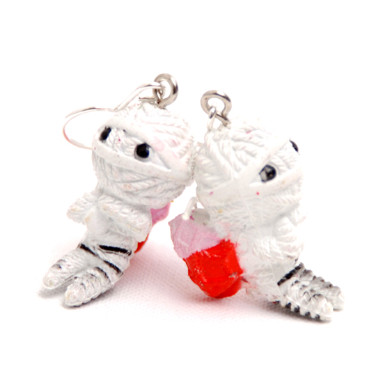Earrings Voodoo (white)