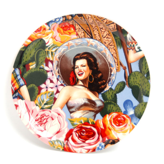Round Tray Oh la ladies 1