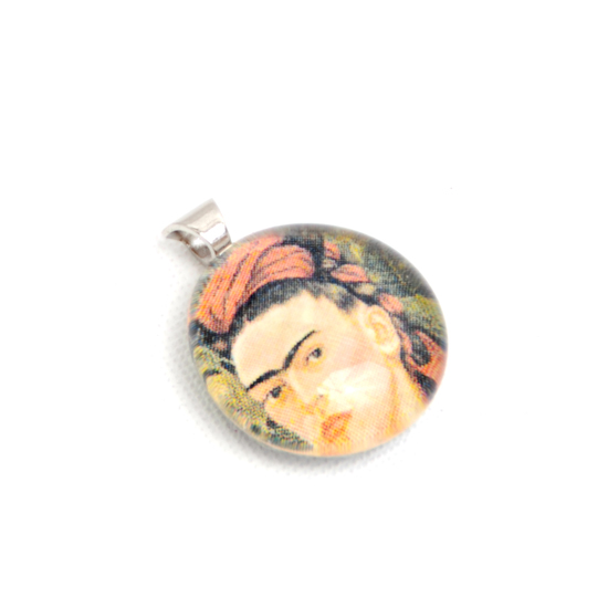Necklace Frida Kahlo 'No1' Glass