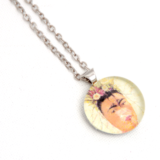 Necklace Frida Kahlo 'No3' Glass