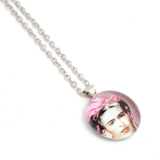 Necklace Frida Kahlo 'No4' Glass